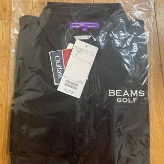ビームス(BEAMS)のbeams golf 長袖ポロシャツ 黒 Mサイズ(ポロシャツ)