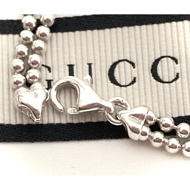 Gucci(グッチ)の正規品 グッチ 2連 ボールチェーン/Wチェーン ネックレス シルバー925 レディースのアクセサリー(ネックレス)の商品写真