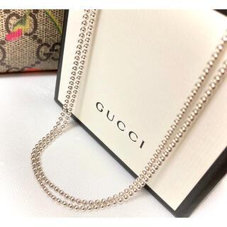 Gucci - 正規品 グッチ 2連 ボールチェーン/Wチェーン ネックレス シルバー925