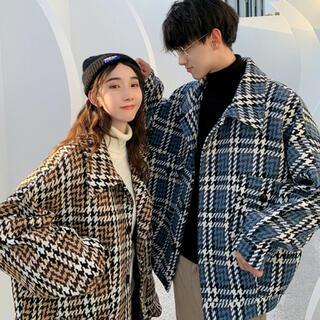 スタイルナンダ(STYLENANDA)の韓国ファッション♡チェックジャケット♡ブルー(テーラードジャケット)