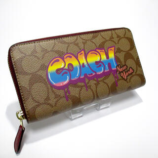 COACH - COACH 長財布 未使用 [83] F36079 グラフィティ ロゴ カーキ