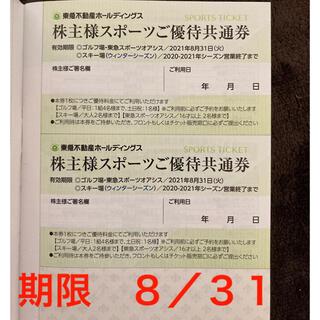 東急不動産 株主優待券 スポーツご優待共通券 2枚(その他)