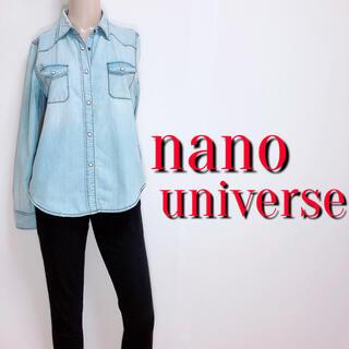 ナノユニバース(nano・universe)の必需品♪ナノユニバース デザインデニムシャツ♡マウジー ジーナシス(シャツ/ブラウス(長袖/七分))
