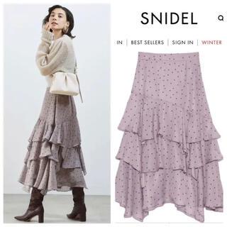 snidel - スナイデル ボリュームフレアスカート ドット 1 M