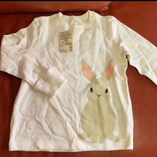 ムジルシリョウヒン(MUJI (無印良品))の新品未着用!タグ付き MUJI 無印良品 キッズTシャツ ウサギ 女の子 120(Tシャツ/カットソー)