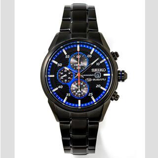 セイコー(SEIKO)のSUBARU スバル 腕時計 オールブラッククロノグラフ(腕時計(アナログ))