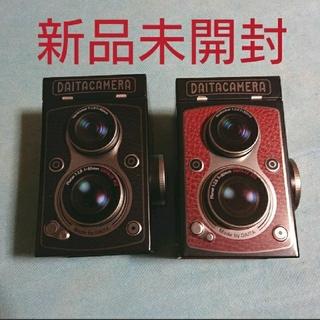 カルディ(KALDI)のレフレックスカメラ缶チョコレート(菓子/デザート)