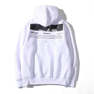 オフホワイト(OFF-WHITE)のOff white オフホワイト スウェットパーカー ホワイト色 XXLサイズ(パーカー)