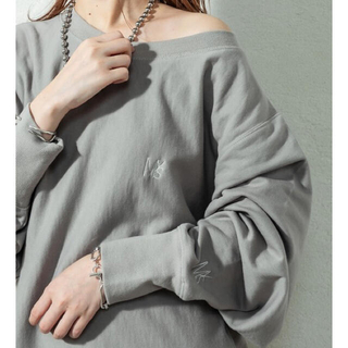 mystic - mys刺繍スウェット