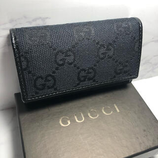 Gucci - 【激安】GUCCI グッチ キーケース GGキャンバス キーリング