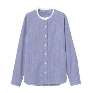 MUJI (無印良品) - 新疆綿洗いざらしブロードスタンドカラーシャツ