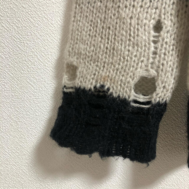ACNE(アクネ)のAcne studios Kantonia ダメージ ボーダーニットセーター レディースのトップス(ニット/セーター)の商品写真