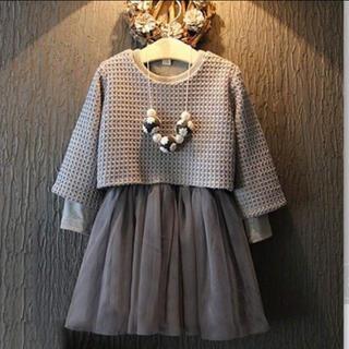 ザラキッズ(ZARA KIDS)のセーター付き キッズワンピ 3-4 #JENNI イングファースト ザラキッズ(ワンピース)