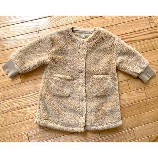 ムジルシリョウヒン(MUJI (無印良品))の無印良品 ベビー 赤ちゃん あったか ボア 80-90 もこもこ 羽織り コート(ジャケット/コート)