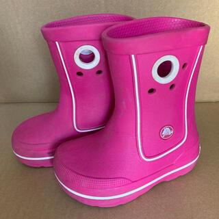 crocs - クロックス 長靴 レインブーツ ピンク 16cm