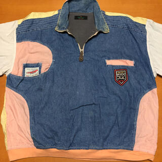 長袖 シャツ 刺繍ロゴ ハーフジップ ゆるダボ ビッグシルエット 3L