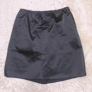 ドゥロワー(Drawer)のDRAWER シルク定番ミニスカート 36(ミニスカート)