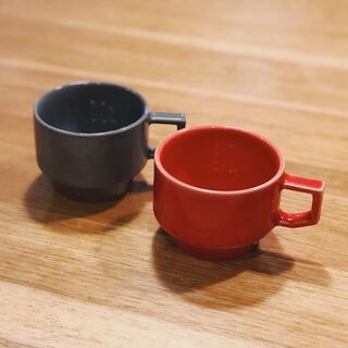 ハサミ(HASAMI)の2個セット HASAMI 波佐見焼 ブロックマグ レッド/グレー(食器)