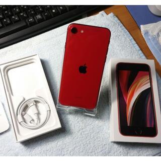 アイフォーン(iPhone)の新品未使用 iPhone SE 第2世代 64GB SIMフリー レッド 赤(スマートフォン本体)