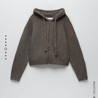ZARA - ZARA  ニットジップアップスウェットシャツ