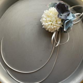toytoy615 小さなコサージュ 【アースブルー】髪飾り 卒業 入学 結婚式(コサージュ/ブローチ)