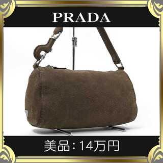 PRADA - 【真贋査定済・送料無料】プラダのショルダーバッグ・美品・本物・ピッグスキン