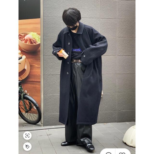 COMOLI(コモリ)のMAISON SPECIAL メゾンスペシャル オーバーサイズステンカラーコート メンズのジャケット/アウター(ステンカラーコート)の商品写真