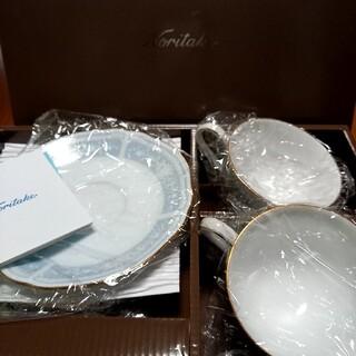 ノリタケ(Noritake)のNoritake レースウッドゴールド ティ・コーヒー碗皿ペアセット(グラス/カップ)