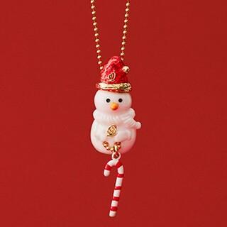 Q-pot. - パウダー シュガースノーマン ネックレス セット 雪だるま キューポット