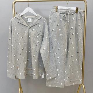 gelato pique -   ジェラートピケ メンズ シャツ パジャマ ルームウェア 上下セット【グレー】