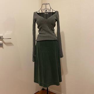 バレンシアガ(Balenciaga)のBALENCIAGA バレンシアガ コーデュロイ スカート(ロングスカート)