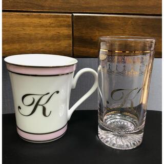 ウフドゥー(oeuf doux)の激安レア■ oeuf doux ウフドゥー イニシャルグラス■グラス マグカップ(グラス/カップ)