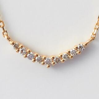 アガット(agete)のagete K18 0.04ct ダイヤモンドネックレス(ネックレス)