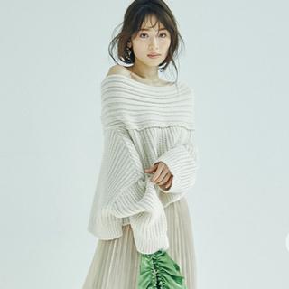snidel - 完売★ SNIDEL スナイデル AW新作 アシメケーブルニットプルオーバー