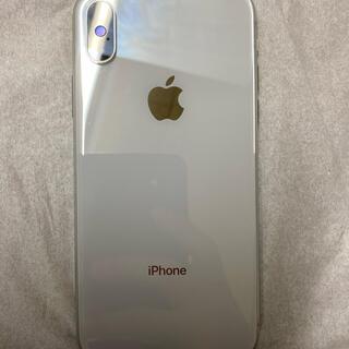 アイフォーン(iPhone)のiPhone x 10 Silver 256gb simフリー(スマートフォン本体)