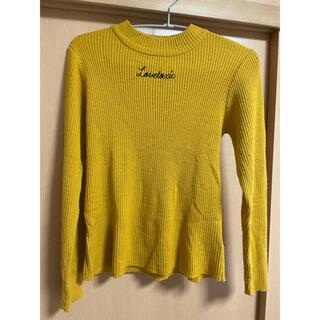 ラブトキシック(lovetoxic)のハイネックセーター 黄色 150センチ(ニット)