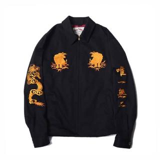 キャリー(CALEE)のCALEE/Twill Souvenir Jacket(ブラック)(スカジャン)