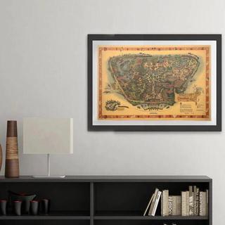 ポスター 015 ディズニーランド USA 1958当時 大判地図