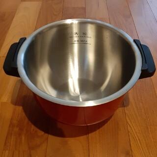 SHARP - ホットクック内鍋 ステンレス 赤 2.4リットル