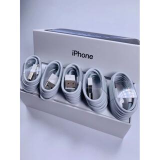 アイフォーン(iPhone)の iPhone 充電器 充電ケーブル lightning 5本 純正品同等 j(バッテリー/充電器)