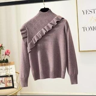 ザラ(ZARA)の新品 ロマンティックフリルニット セーター 韓国ファッション(ニット/セーター)