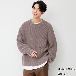 ジーユー(GU)のXL ローゲージワイドフィットクルーネックセーター GU(ニット/セーター)