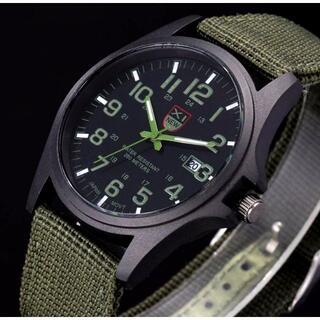 ■新品■ミリタリー NATOバンド 腕時計 緑 カジュアル アウトドア(腕時計(アナログ))