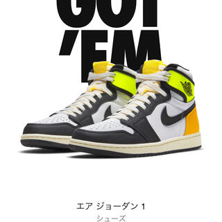 NIKE - 32cm US14 NIKE AIR JORDAN 1 Volt Gold 新品