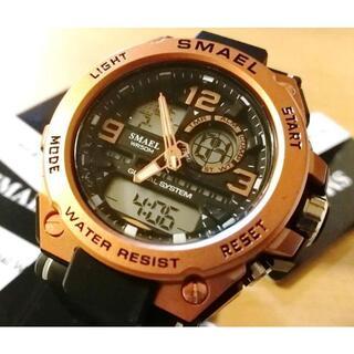 ビッグフェイス ダイバーズウォッチ 高級感 ビンテージ アナデジ アナログ(腕時計(アナログ))