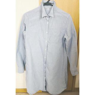 ムジルシリョウヒン(MUJI (無印良品))のシャツワンピース レディース 水色(ひざ丈ワンピース)