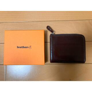 ホワイトハウスコックス(WHITEHOUSE COX)のLsather-g レザージー イタリアンレザー L型コンパクト財布 極上美品 (折り財布)