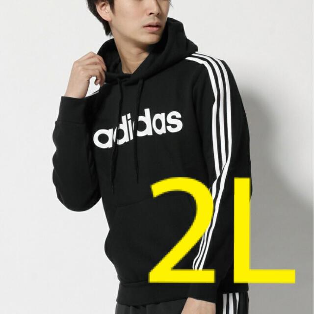 adidas(アディダス)のadidas メンズ パーカー アディダス ブラック メンズのトップス(パーカー)の商品写真