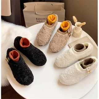 カシミヤ 2019冬 新型 柔らかい底 妊婦 綿の靴 流行(その他)