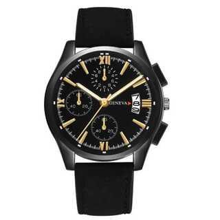新品 送料込み デュアルタイプ 腕時計メンズ ラグジュアリー黒(腕時計(アナログ))